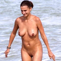 Ass On The Beach - Beach, Big Tits, Brunette