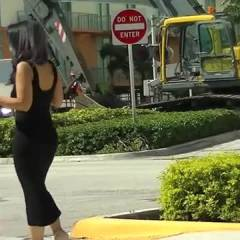 Nikki Brazil Vs Construction Workers And Barber! Oh And Lingerie Shopping In Sheer Tight Dress! - Big Tits, Brunette Hair, Exposed In Public, Flashing, Heels, Nude In Public, See Through , Is This Dress Really That Tight?  Does My Booty Stick Out That Much In It?  Wait, Do You Think Its See Thru?  Nah.  Cant Be, Lol.  Construction Workers Might Think So And The Barber That Comes Out Of His Shop To See Thinks So Too!  Maybe Its Because They Caught Me Taking Off My Panties?  The Barber Even Asked If He Could Sniff Them!  That's A First!  Then Its On To Some Lingerie Shopping.  I Need Some New Panties, Lol.  Walking Around Nude In The Store Is Fun And I'm Pretty Sure Anyone Outside Could See In! 