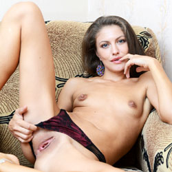 Horny Brunette Spreading Legs - Brunette Hair, Nipples, Pussy Lips, Shaved Pussy, Showing Tits, Small Tits, Hairless Pussy, Sexy Body, Sexy Figure, Sexy Girl, Sexy Legs, Sexy Panties
