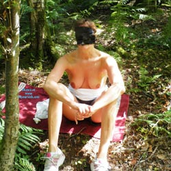 Shy Yvonne Plays In The Woods - Big Tits, Nature