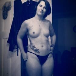 Medium tits of my girlfriend - Anna