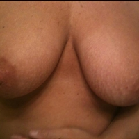 Very large tits of a co-worker - Trish