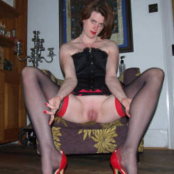Scarlet Cat Takes An 18 Inch Double Header - Brunette Hair, Heels, Sexy Lingerie, Toys