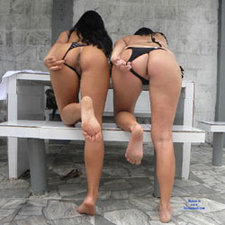 Selma Brasil And Delicious Friend - Bikini Voyeur, Brunette