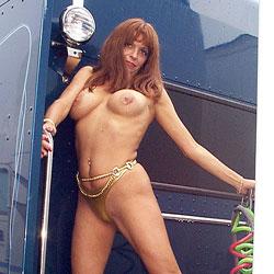 Spandex Swimsuit Showoff - Big Tits, Bikini Voyeur