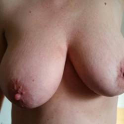 Large tits of a co-worker - 50 n wet