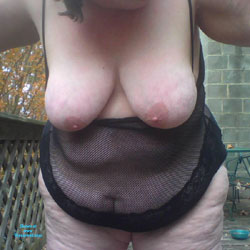 Showing Off Outside - Big Tits