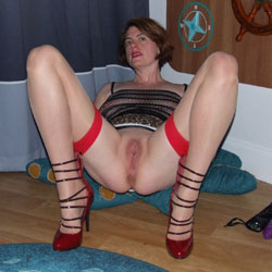 Scarlet Cat Fills Her Holes - Heels, Shaved, Toys, Wife/Wives
