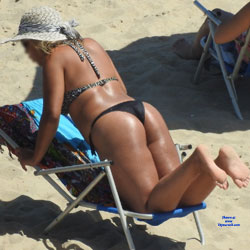 Blonde In Recife City, Brazil - Beach, Bikini Voyeur