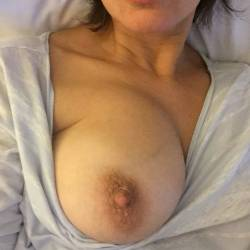 Large tits of my wife - Alexis