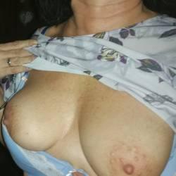 Medium tits of a neighbor - Lisa