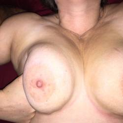 Very large tits of my wife - Sunny