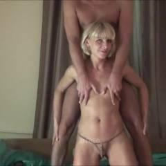 In Bed - Blonde, Blowjob, Cumshot, Girl On Guy