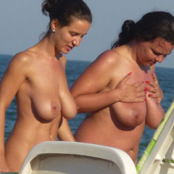 Small or big ones? - Big Tits, Beach