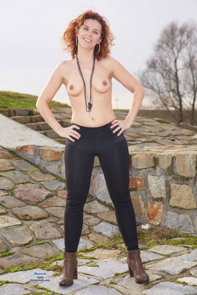 Lena Autumn Strip - Big Tits, Redhead, Shaved, Sexy Ass , Naked, Nude, Slut, Horny, Redhead, Curly Hair, Redhead