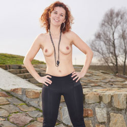 Topless Lena In Outdoor - Big Tits, Hard Nipple, Nipples, Nude In Nature, Redhead, Small Tits, Topless Outdoors, Sexy Body, Sexy Figure, Sexy Girl, Sexy Legs , Nude, Redhead, Topless, Boots, Small Tits, Hard Nipples, Outdoor