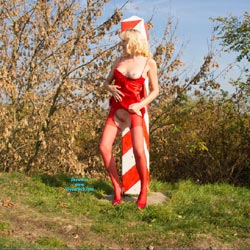 The Bridge Between Germany And Poland - Blonde, High Heels Amateurs, Lingerie