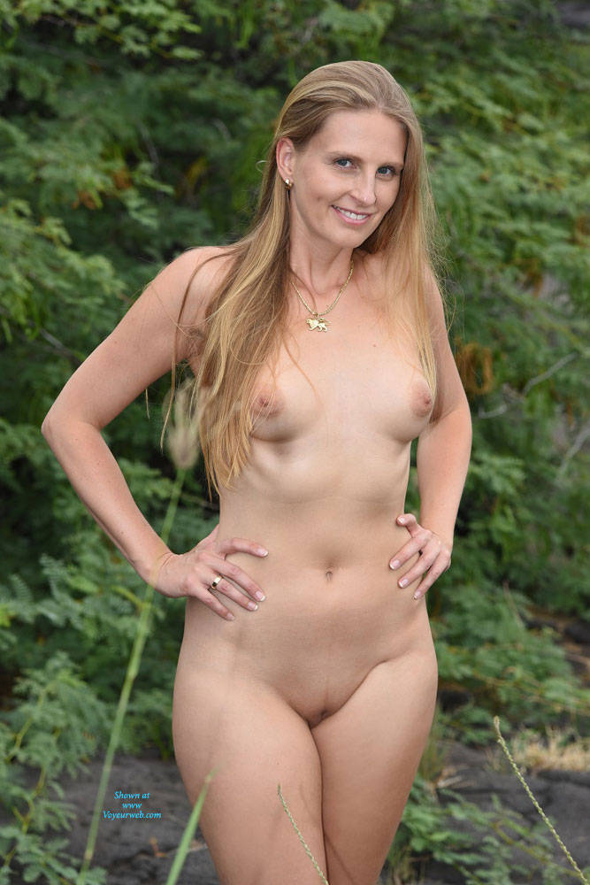 Naked wives outdoors
