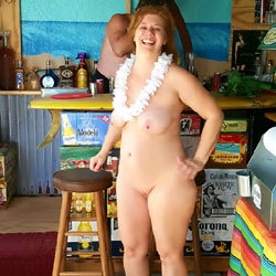 Quick Trip To The Beach Part 2 - Big Tits, Public Exhibitionist, Public Place, Redhead, Shaved