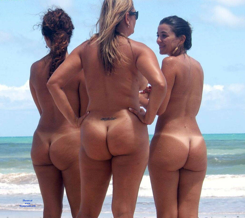 Beach family Brazil nudist