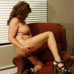 In The Red Chair - Big Tits