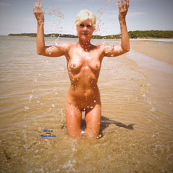 Wet Blonde At The Beach Water - Big Tits, Blonde Hair, Firm Tits, Full Nude, Naked Outdoors, Nipples, Nude Beach, Nude In Nature, Perfect Tits, Shaved Pussy, Short Hair, Showing Tits, Beach Pussy, Beach Tits, Beach Voyeur, Naked Girl, Sexy Body, Sexy Boobs, Sexy Figure, Sexy Girl, Sexy Legs