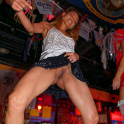 Julie P. Coyote Bar Dancing Showing Pussy - Exposed In Public, Flashing, Nude In Public, Shaved, Sexy Ass