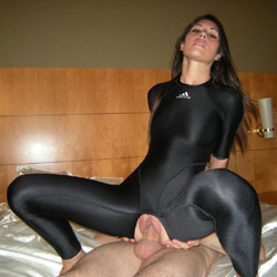 Crotchless Latex - Brunette, Girl On Guy, Penetration Or Hardcore, Pussy Fucking