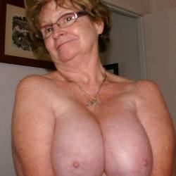Very large tits of a co-worker - Barbara