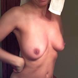 Medium tits of my wife - shy dee