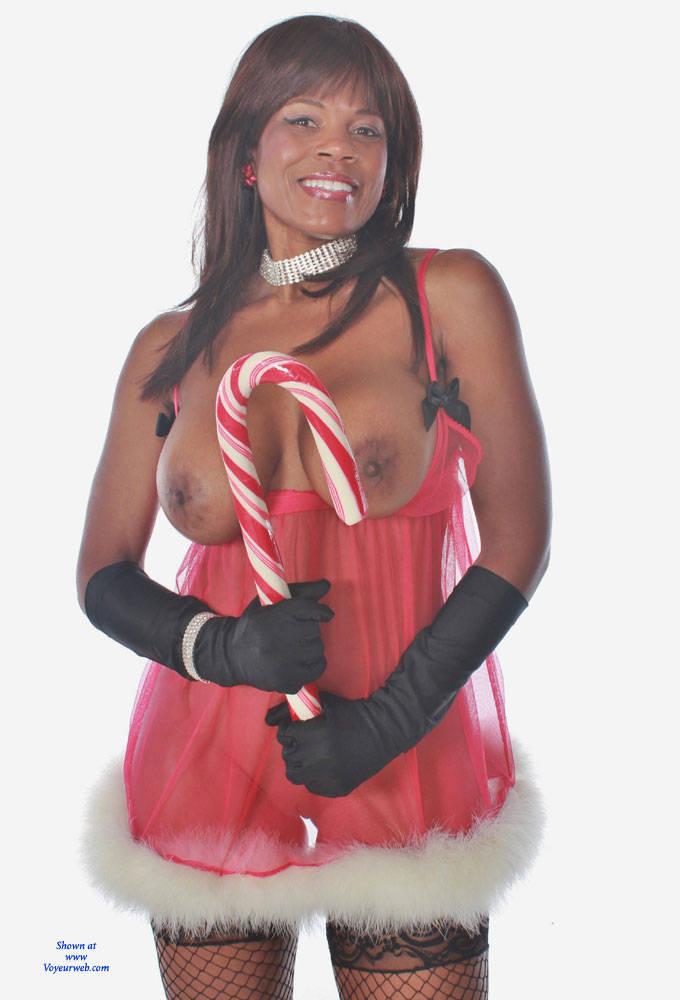 Pic #1 - Dreaming Of A Red XMas - Big Tits, Shaved, Ebony , Hot Ebony Babe, Black Chicks, Horny Slut, Model