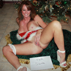 Showing Pussy While Waiting For Santa - Big Tits, Brunette Hair, Firm Tits, Flashing Tits, Heels, Perfect Tits, Pussy Lips, Shaved Pussy, Showing Tits, Hot Girl, Sexy Body, Sexy Boobs, Sexy Girl, Sexy Legs