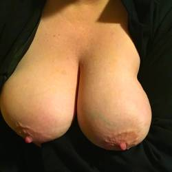 Large tits of my wife - Janet