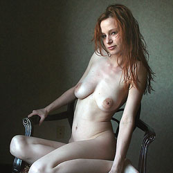 Air-Drying Her Red Hair - Big Tits, Redhead, Shaved