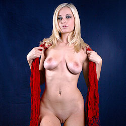 Naked Blonde With Red Scarf - Big Tits, Blonde Hair, Full Frontal Nudity, Full Nude, Perfect Tits, Shaved Pussy, Hairless Pussy, Hot Girl, Sexy Body, Sexy Boobs, Sexy Figure, Sexy Girl, Sexy Legs