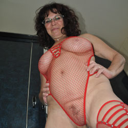 Red - Big Tits, Brunette, Lingerie, Mature