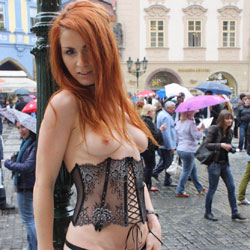 Vienna - My First Book - Flashing, Public Exhibitionist, Public Place, Redhead, Shaved