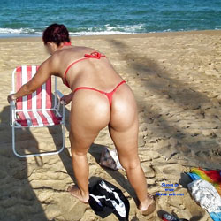 Red Bikini From Recife City, Brazil - Beach, Bikini Voyeur