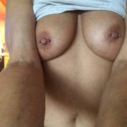 Medium tits of my wife - Chrissy