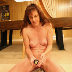 RC Finds Her Own Pocket And Sinks The 8 Ball - Brunette, Shaved