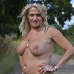 Walking In The Road - Big Tits, Blonde