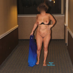 Hotel Fun - Big Tits, Public Exhibitionist, Public Place