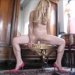 KarissaLegs Riding Her Toy In Heels - High Heels Amateurs, Shaved, Toys