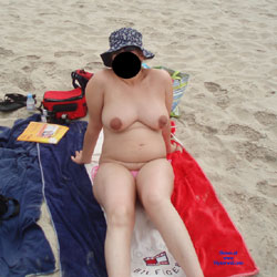My Pregnant Slut Wife - Beach, Big Tits, Wife/Wives