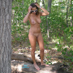 Tied Up In The Woods - Big Tits, Brunette Hair, Nude In Public , Naked, Outdoors, Horny, Blindfolded