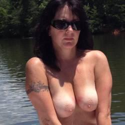 Medium tits of my girlfriend - Lizz