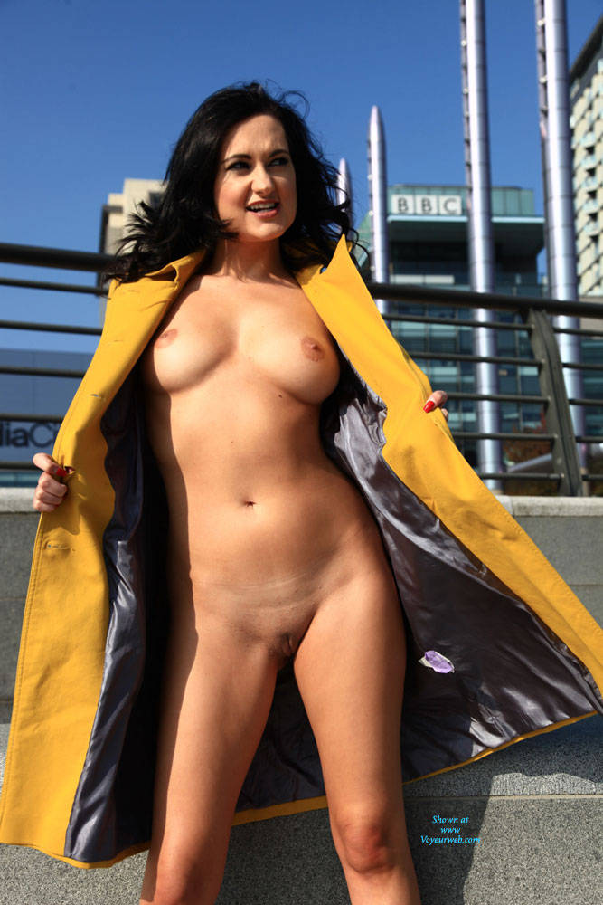 Pic #7 Your Naked Guide - Brunette, Flashing, Public Exhibitionist, Public Place, Shaved