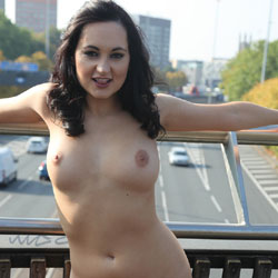 Your Naked Guide - Brunette, Flashing, Public Exhibitionist, Public Place, Shaved