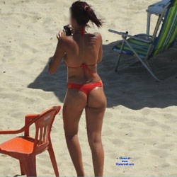 Orange Bikini From Recife City, Brazil - Beach, Bikini Voyeur