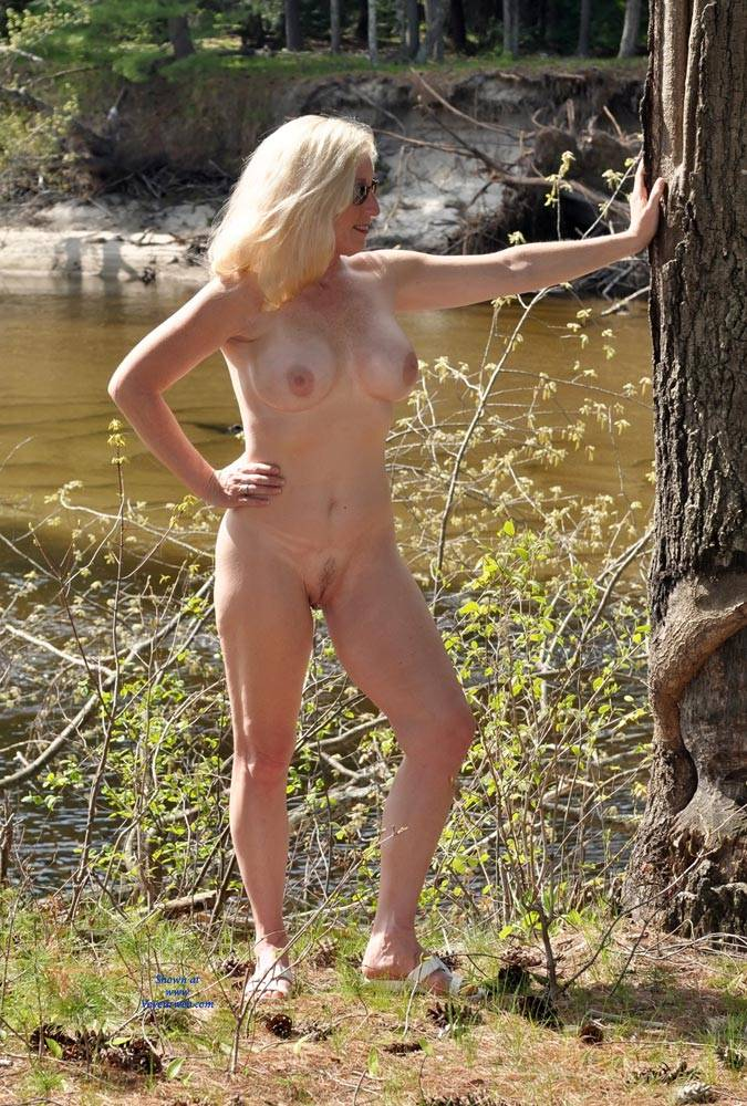 Nude On A Nice Spring Day - Big Tits, Blonde Hair , Nude, Naked, Blonde, Slut,babe